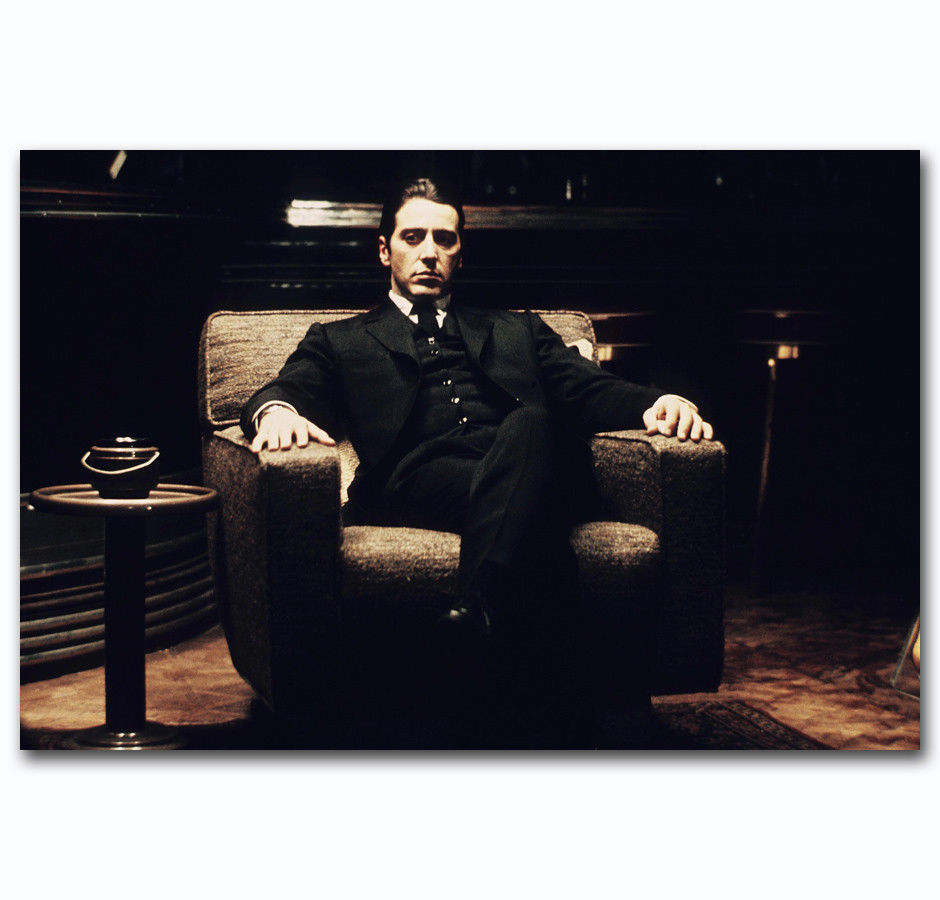 The Godfather Vintage Movie Silk Canvas Posters Print 24x36 inch Home Decor