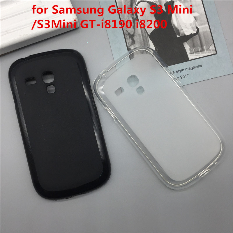 Case Soft Silicon Phone Para for <font><b>Samsung</b></font> <font><b>Galaxy</b></font> <font><b>S3</b></font> <font><b>Mini</b></font> /S3Mini GT-<font><b>i8190</b></font> i8200 Fundas <font><b>Cover</b></font> Shell Black Cases <font><b>Original</b></font> Coque image