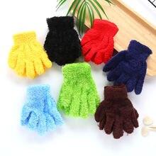 Плюшевые толстые теплые перчатки для маленьких мальчиков и девочек