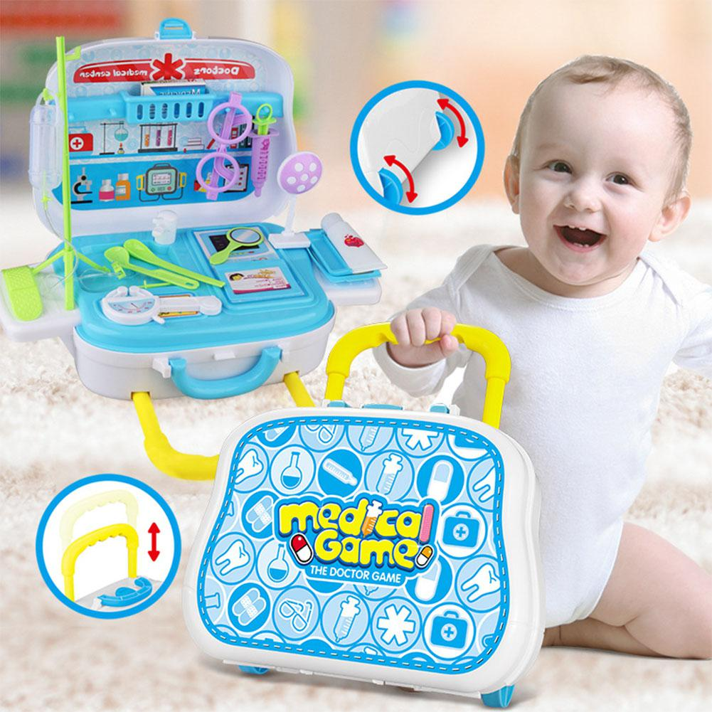 RCtown Simulate Draw-bar Box Medical Kit Toy Set Doctor Set Play-House Toy Birthday Festival Gift 26PCS/Set zk25