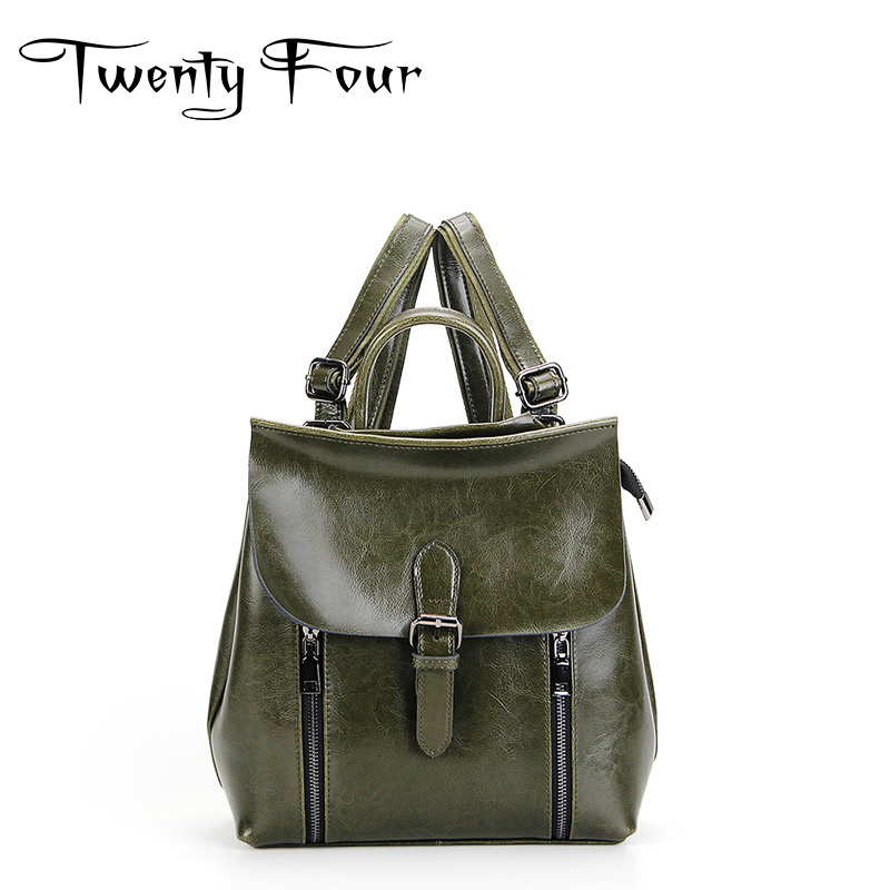 Twenty-four Women Genuine Leather Backpacks Ladies Cover Click Backpacks For Teenagers Girls School Bags Travel Bags Mochila winner single album our twenty for random cover release date 2017 08 08