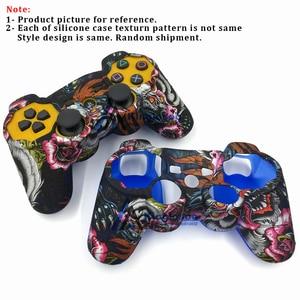 Image 2 - Decals Camo Siliconen Gel Rubber Soft Sleeve Skin Grip Cover Case Beschermende Skin Voor Playstation 3 PS3 Game Controller
