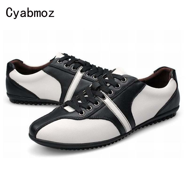 2017 new arrival fashion white black patchwork comfortable flats genuine leather lace up casual shoes male  travel shoes new arrival spring autumn fashion flats black men casual shoes oxford genuine leather high quality lace up comfortable shoes