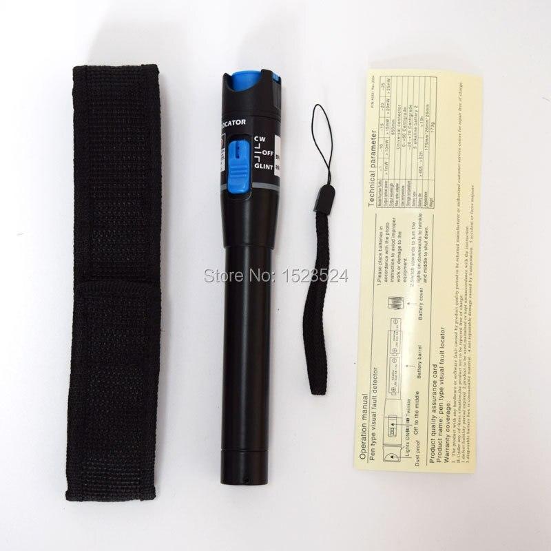 12 pièces/ensemble FTTH kit d'outils fibre optique avec fibre Couperet-70 ~ + 10dBm Puissance Optique Visual Fault Lcator 5 km - 4