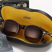 Johnny Depp Sunglasses Man Woman Clip On Sun Glasses Polarized Lens Brand Designer Acetate Glasses Frame With Box Top quality 00