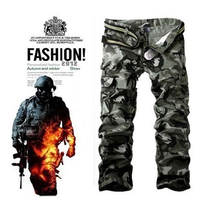 438463c2ef9 Overalls male trousers military multi pocket pants Combat pants plus size  casual loose cargo pants spring