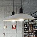 Belo Pingente de Loft lâmpada Branco/Preto Luz do Candelabro Lâmpada Pendurada Luz para sala de Jantar Quarto Luminária de Alumínio E27 Branco Quente