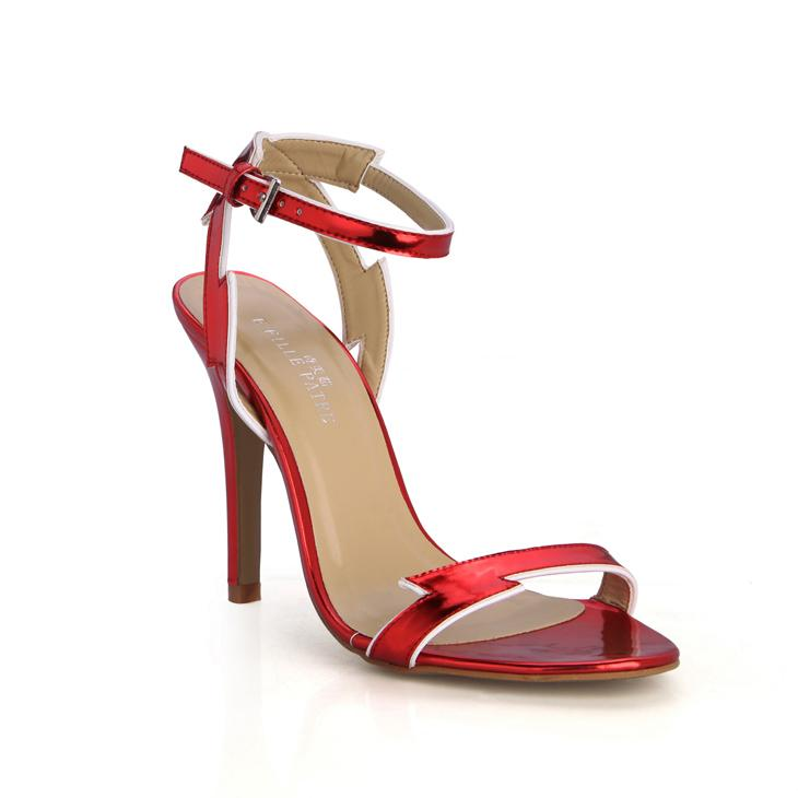 Wedding High Heels Sandals: Fashion Red Wedding Women Sandals Summer High Heels Big