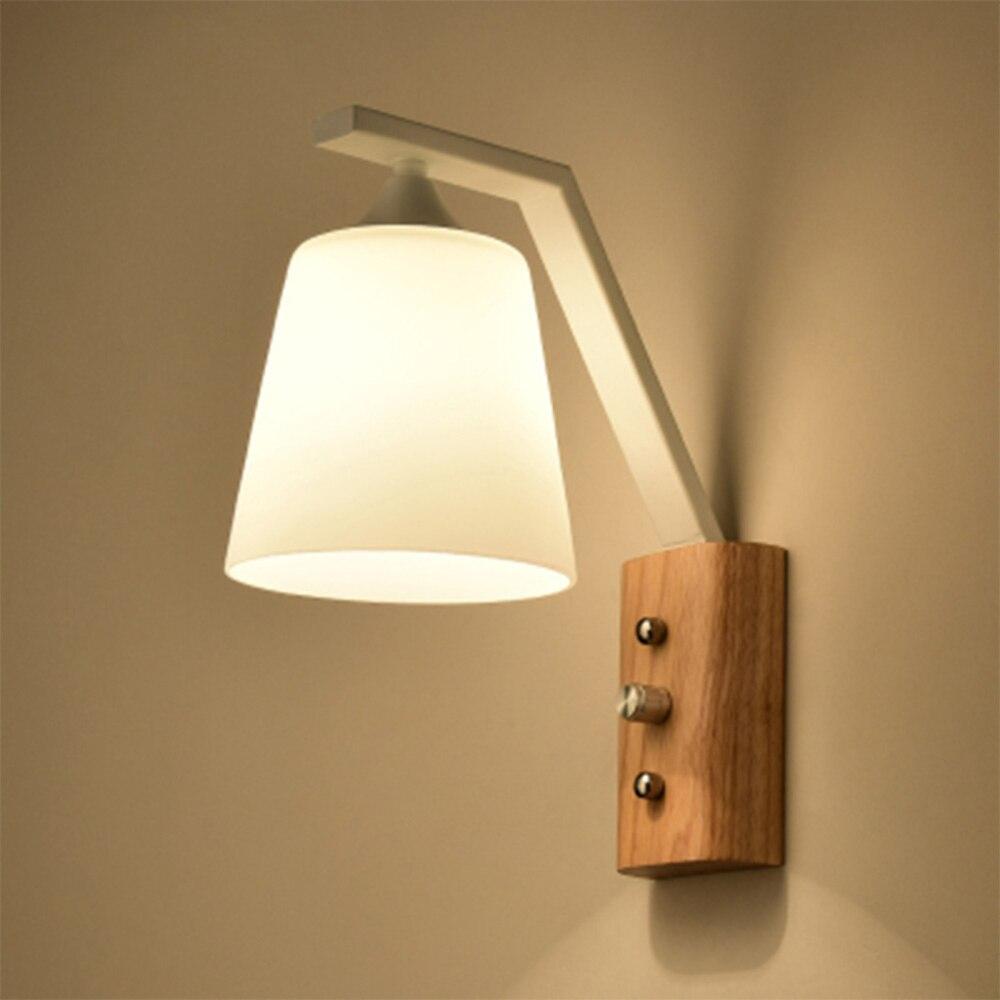 Настенный светильник LED 110-220 В Loft Home Освещение настенный светильник e27 Современные Бра Настенные светильники Luminarias Стекло бра