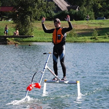 Wakeboard, water bicycle, hydrofoil, flyer on water, water skateboard