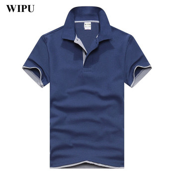 WIPU Brand New Men's Polo Shirt Men Cotton Short Sleeve shirt sportspolo jerseys golftennis Plus Size XS-3XL camisa Polos homme