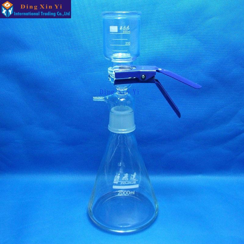 2000 ملليلتر فراغ جهاز الترشيح ، غشاء فلتر ، الرمال النواة معدات تصفية-في زجاجة مختبر من لوازم المكتب واللوازم المدرسية على  مجموعة 1