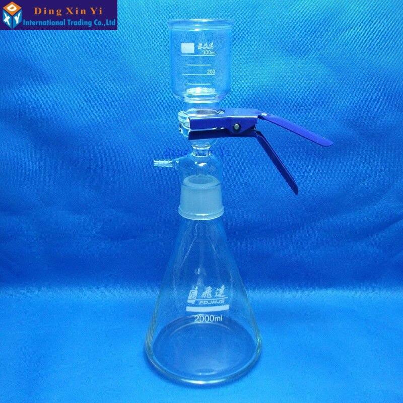 Aparato de filtración al vacío 2000 ml, filtro de membrana, equipo de filtro de núcleo de arena
