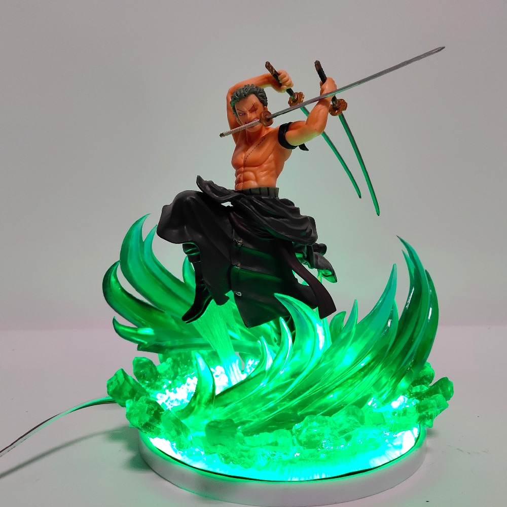 One Piece Zoro Lampara Led Night Light Lamp One Piece Roronoa Zoro Anime Nightlights Color Changing Led Remote Control