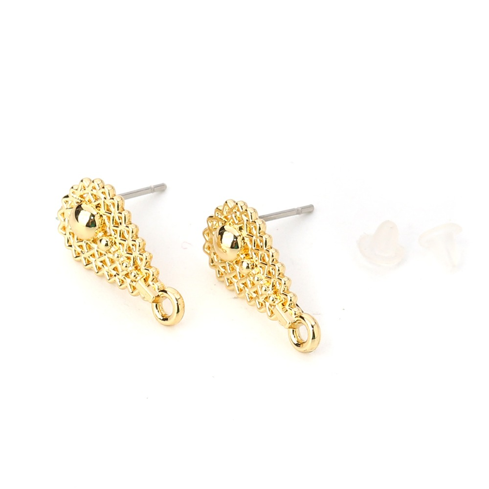 10pcs Gold Musical Note Beads Connector Rhinestones Fit DIY Bracelet 27*10mm