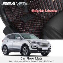 Для LHD hyundai Santa Fe DM 2017 2016 2015 2014 2013 автомобильные коврики на заказ Авто Интерьер стопы коврики стайлинга автомобилей