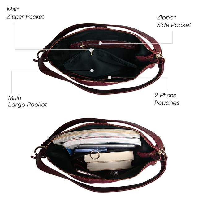 Women Real Split Suede Leather Shoulder Bag Female Leisure Nubuck Casual Handbag Hobo Messenger Top-handle bags 4