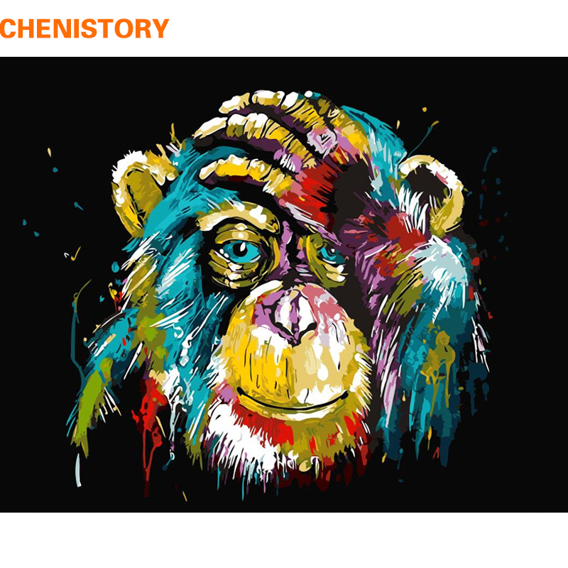 CHENISTORY Animals DIY Painting By Numebrs Kits Acrylic Paint On Canvas Paint By Numbers Home Wall Art Picture Unique Gift 40x50