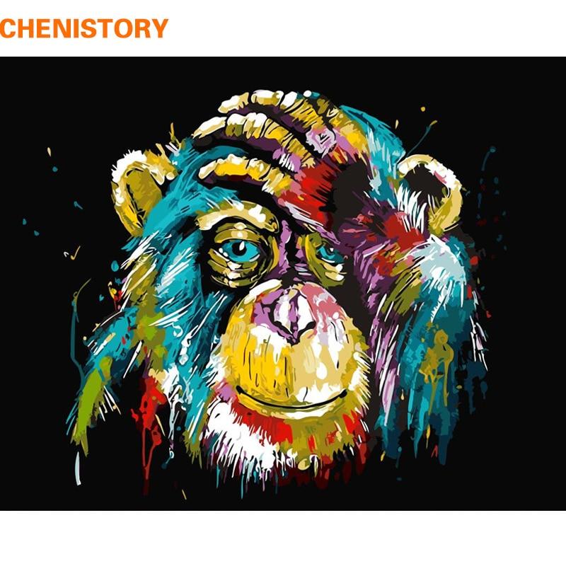 CHENISTORY animales DIY pintura por Numebrs Kits pintura acrílica sobre lienzo pintura por números arte de la pared regalo único 40x50
