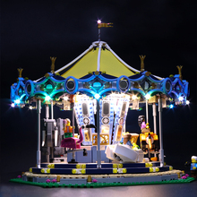 Basic section A Led Light Set For Lego 10257 Building Blocks Creator City Street Carousel Toys Compatible 15036 (only led) цена 2017