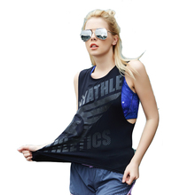 frees shipping !Women Gym Shirt Yoga Top Sleeveless Elastic Breathable Vest Fitness Running Clothes Women Sports Tops