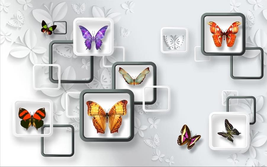 3D fantasy butterfly living room TV background wall paper wall sticker window mural wallpaper3D fantasy butterfly living room TV background wall paper wall sticker window mural wallpaper