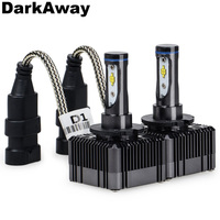 DarkAway D1S LED Bulb Best Car Headlight D1R D3S D3R Lamp 72W 8000Lm Same Size as D1/D3 Original Bulb Plug Play White 6000K IP67