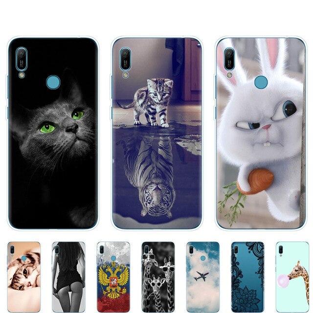 Huawei y6 2019 Case Huawei Y6 2019 Silicone TPU Cover Soft Phone case For Huawei Y6 2019 MRD-LX1 MRD-LX1F Y 6 pro Y6Prime Case