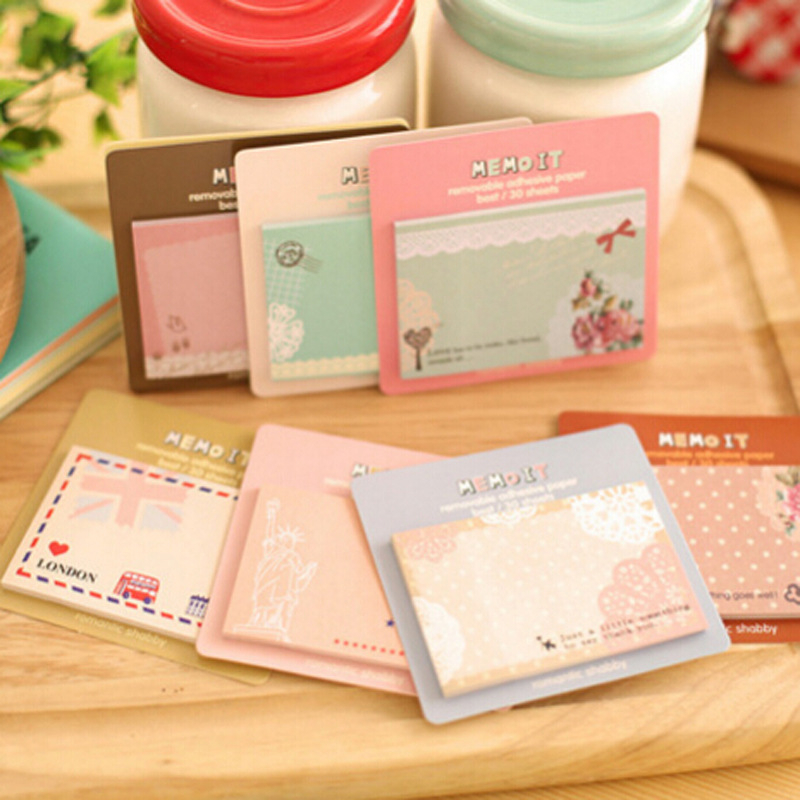 Factory Direct Selling Cute Convenience STICKER CARD Notes Of The Korean Student Stationery Portable N Post Sticker Small Gift