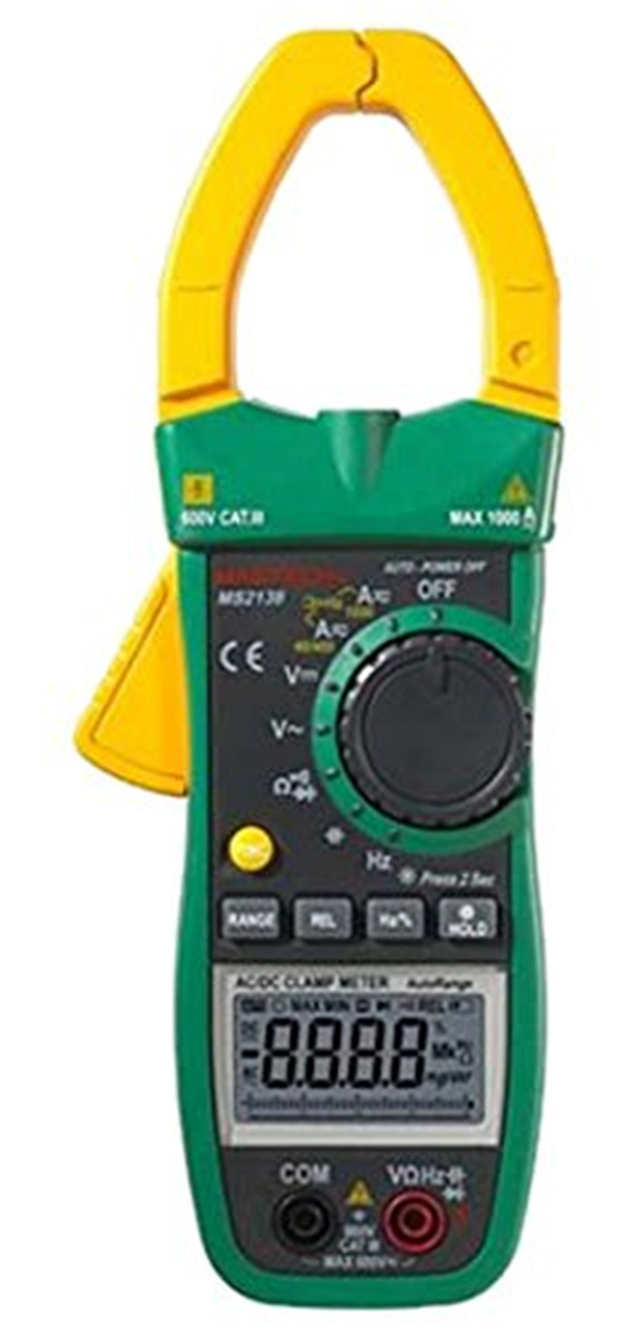 Hot MASTECH MS2138 AC/DC Clamp Meter Digital Multimeter 4000 Counts 1000A Electrical Current Voltage Tester with Performance mastech ms2138 digital 1000a ac dc clamp meter multimeter electrical current 4000 counts voltage tester with high performance