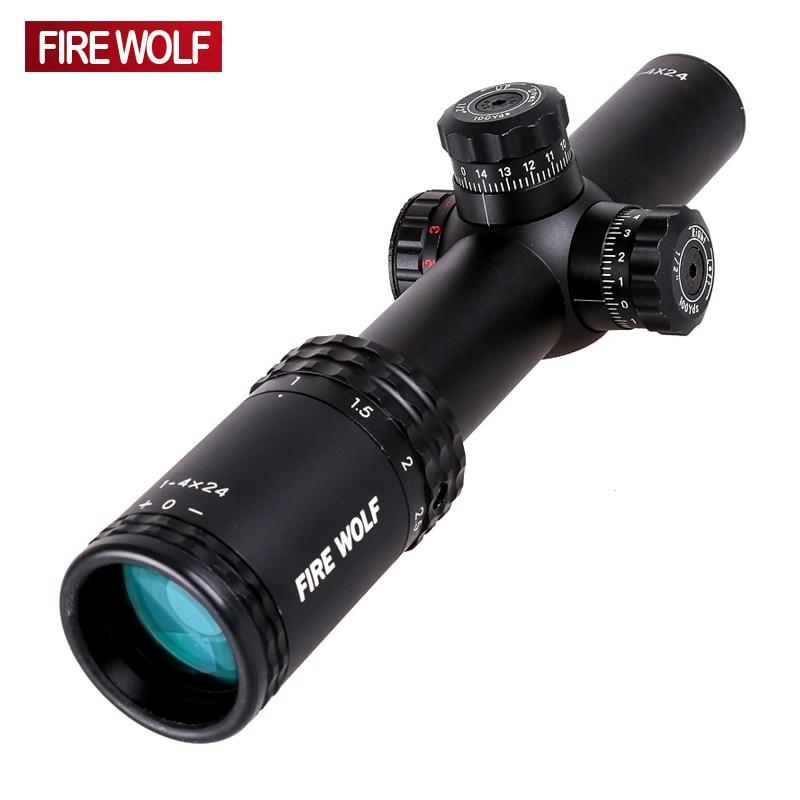 Silver 1-4X24 Riflescopes Rifle Scope Hunting Scope w/ Mounts прицел veber wolf 1 4x24 gb dnd