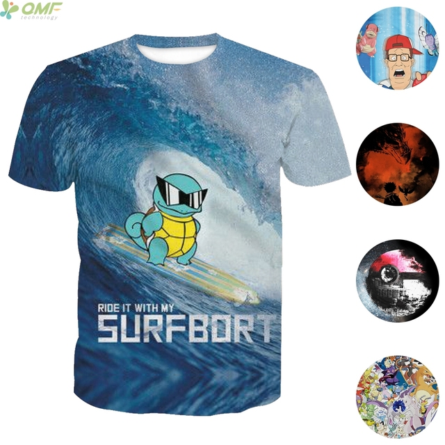 c0872568d658f Funny Pokemon Go Print Male T-shirts Fashion Couples Tops Casual T Shirt  Cosplay Cartoon Pocket Monsters Men Tees Slim Fit