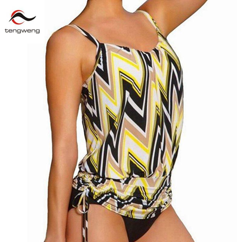 2017 D'été Femmes 2 Pièce Rayures Maillots De Bain Brésilien Push Up Tankini Vintage Maillot de bain Sport Maillot de Bain Plus La Taille Noir Bikinis