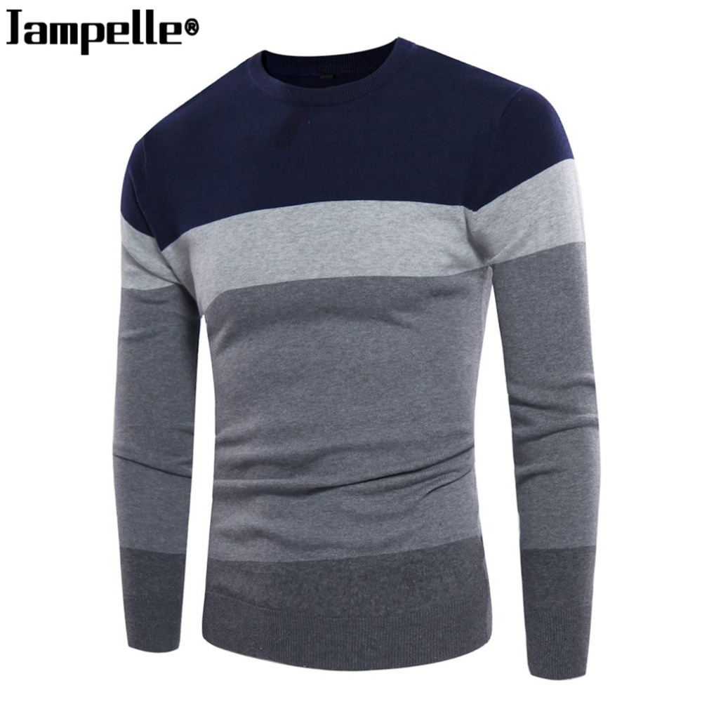 Fashionable Design Casual Mens Sweater Autumn Winter New Wool Male Pullovers Top Quality Striped Men Slim Fit Knitting Clothing