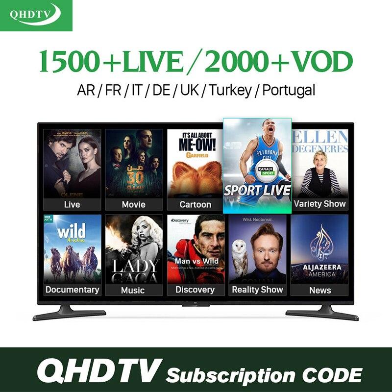 Télévision en ligne SUBTV QHDTV IUDTV IPTV abonnement 3500 chaînes allemagne français espagnol italie arabe IPTV lecteur multimédia intelligent en direct