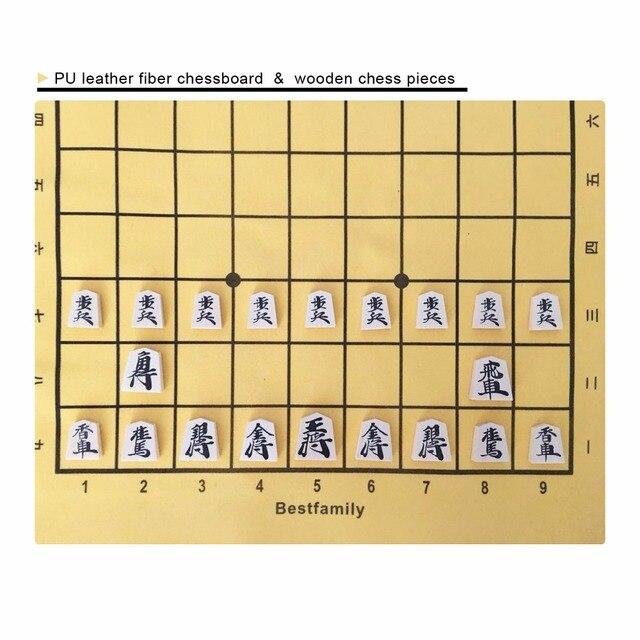 Ensemble de Shogi 40 pièces plateau pliable 4
