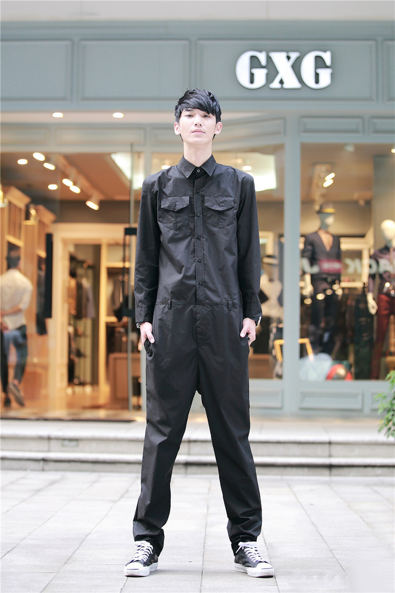 Personalized Men S Jumpsuit Overalls Roll Up Hem Fashion