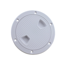 Marine ABS Deck Inspection Access Hatch Cover Boat Anti-corrosive Screw Out White Round Plate 4″ 6″ 8″