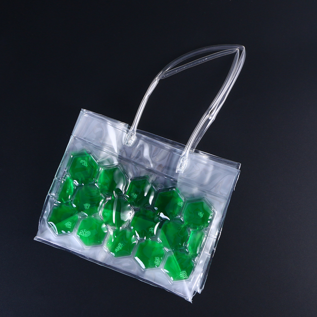 Transparent Eco-Friendly Ice Bag for 350 ml Bottles
