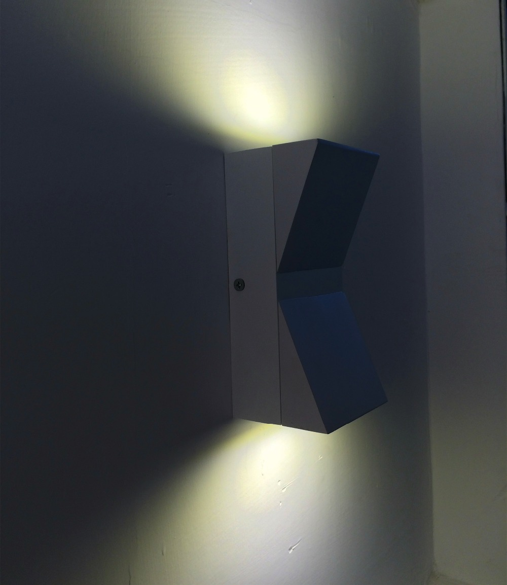 Led Outdoor Wall Sconce 6w Aluminum Led Wall Lamp Waterproof Up And Down Bedside Reading Led