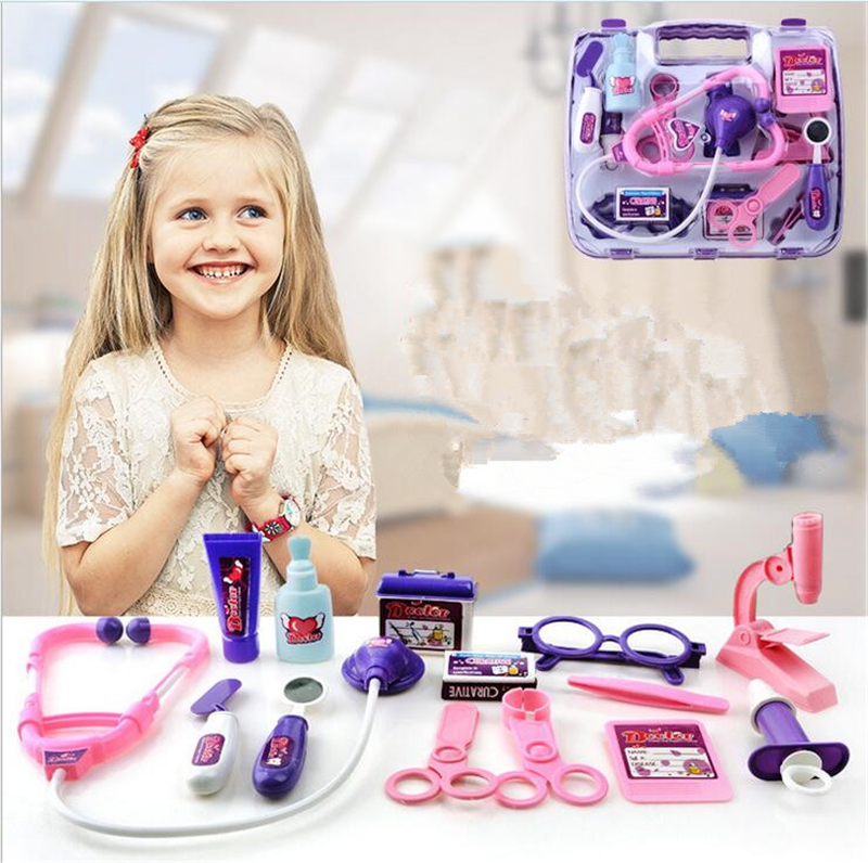 New Kids Educational Pretend Doctor Case Toy Set Child Medical Kit Doctor Case Juguetes Nurse Roleplay Toy Set Gifts