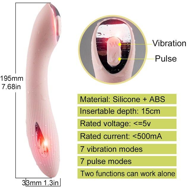 12 vitesses gode vibrateur femelle clitoridien G Spot stimulateur électrique choc impulsion vibrateur pour femme Sex toys pour adultes