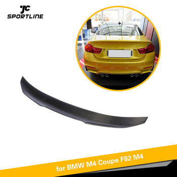 Carbon Fiber For BMW F82 M4 Coupe 2Door 2014 - 2018 Rear Trunk Spoiler Boot Wing Lip