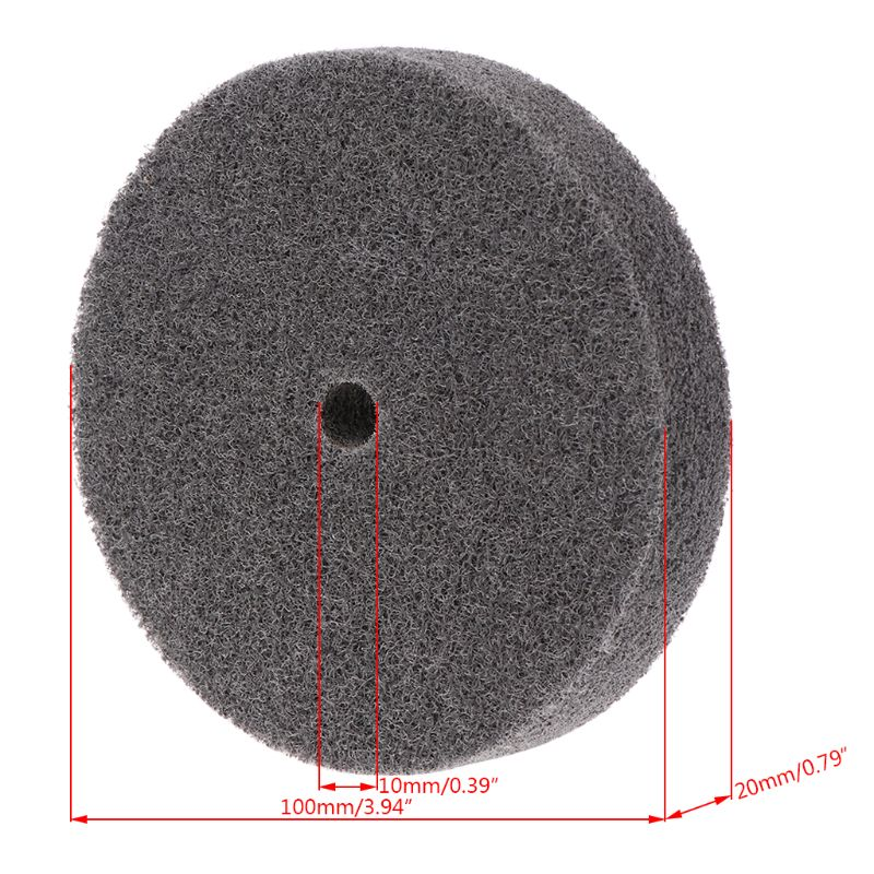 NEW Products 100mm Nylon Fiber Polishing Buffing Buffer Pad Grinding Disc Wheel Abrasive Tool