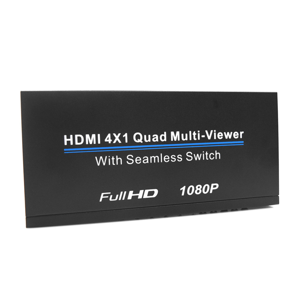 VAKIND HDMI 4X1 Quad Multi-Viewer Full HD 1080P HDMI Quad Screen Real Time Multi-Viewer Splitter Seamless Switcher IR Control цена