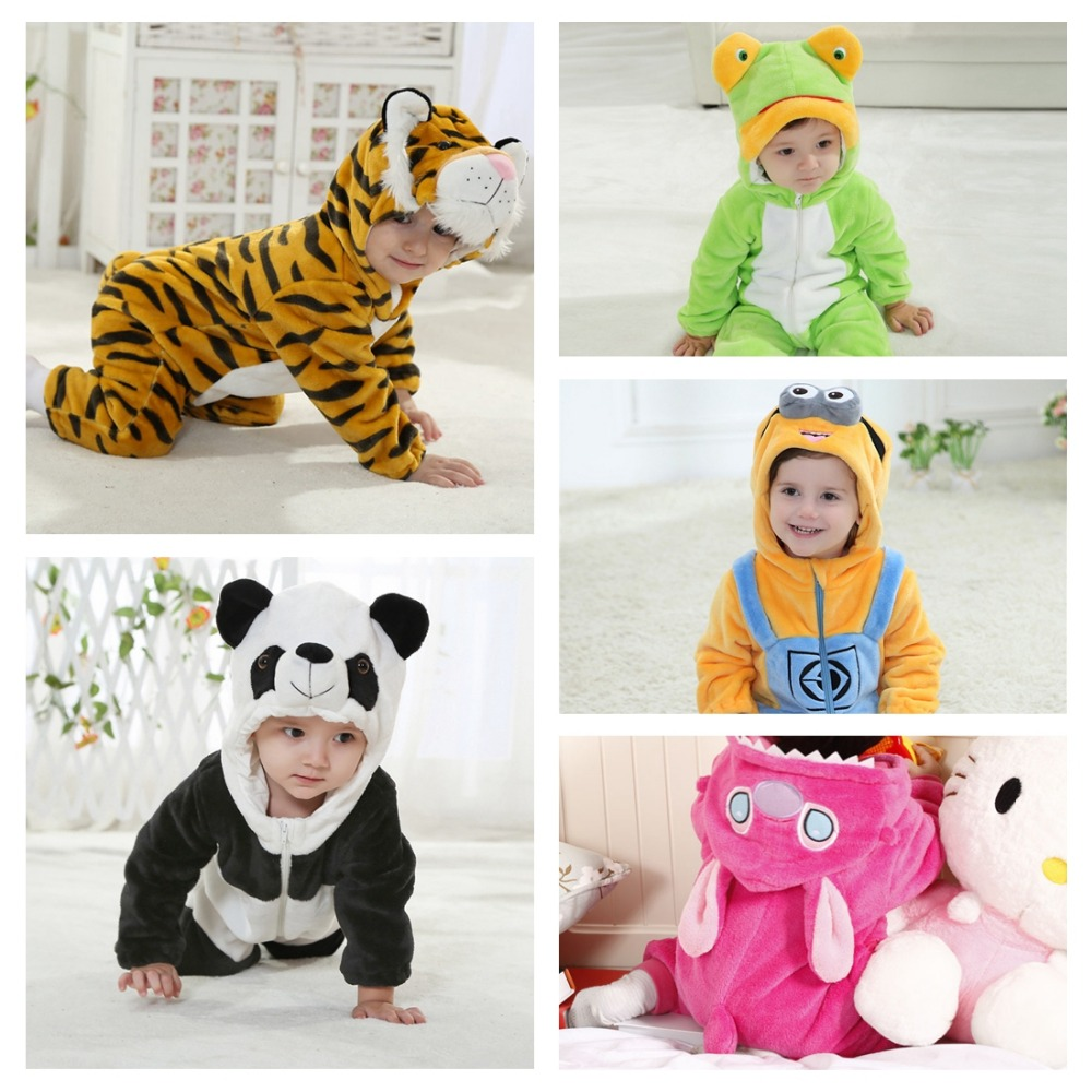 Baby Boy Girl Hooded Rompers Animal Cartoon Cosplay Costume Newborn Infant Jumpsuit Panda Stitch Minions Clothes силиконовый супертонкий чехол для lg k4 df lgcase 03