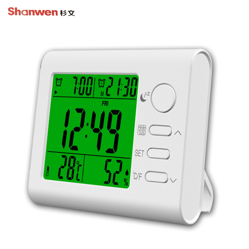 Multifunction font b Thermometer b font Hygrometer Calendar Alarm Clock font b Digital b font font