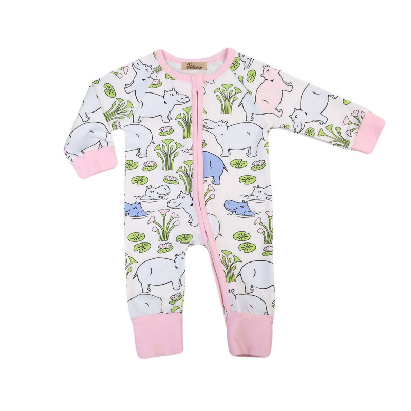 Newborn Infant Baby Girls Cotton Floral Print Long Sleeve Jumpsuit Romper Kids Autumn Warm Clothes Rompers Outfit Clothing 0-2Y