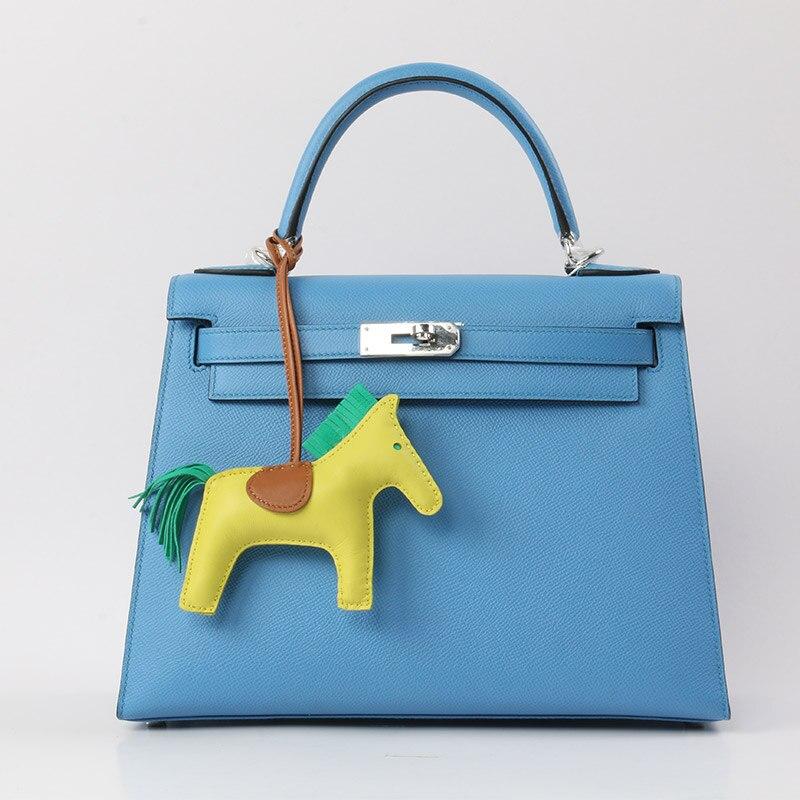 Popular lambskin Rodeo Horse Designer Bag Charms Petit Pony Purse Pendant Rodeo Bag Charm Ornament Wholesale 13*10CM