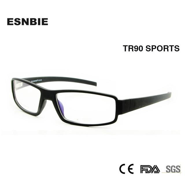 7fe71f40a01 ESNBIE New Eyeglasses Frame Men TR90 Flexible Optical Frame 6 Base Square Glasses  Frames Clear Fashion